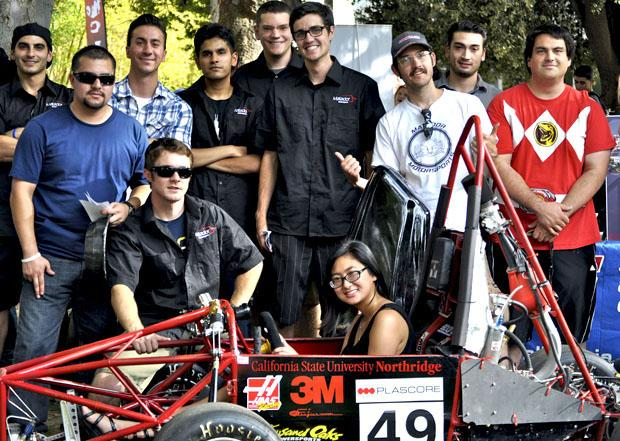 The Society of Automotive Engineers (SAE) club members are very proud of the automobile that they designed and built as a team. SAE has weekly meetings on Tuesdays and Thursdays at 12:30 p.m. in Jacaranda 1624. Photo credit: Elizabeth Ohanian / Daily Sundial