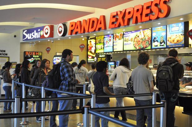 Panda Express is one of the most popular restaurants on campus, offering a wide variety of Chinese food. File Photo / Daily Sundial