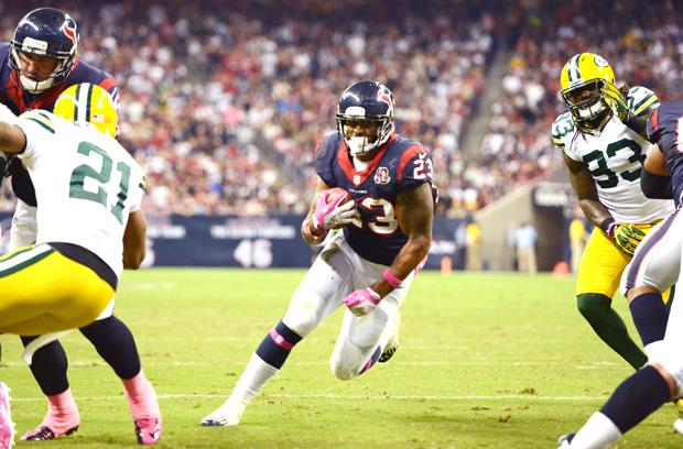 Houston Texans runningback Arian Foster will look to use his explosive running to punish opponents en route to the Super Bowl. Photo courtesy of MCT