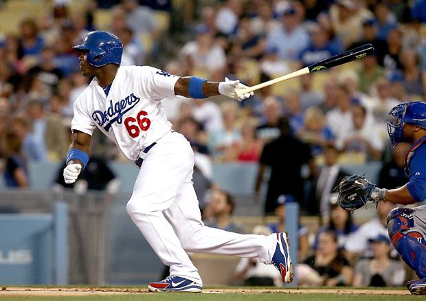 Rookie Yasiel Puig looks to take the Dodgers deep into the postseason. Photo courtesy of MCT