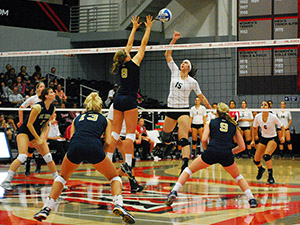 Women's Volleyball: Matadors come back to drop Aggies in five sets
