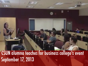 CSUN alumna shares her marketing experience at the