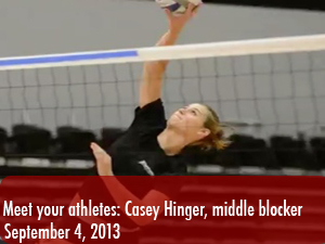 Meet your athletes: Casey Hinger, women's volleyball