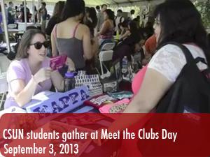 CSUN students gather at Meet the Clubs Day