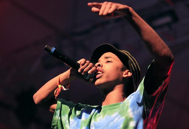 Rapper Earl Sweatshirt, real name Thebe Kgositsile, performs at the Coachella Music and Arts Festival in April 2013 in Indio, California. Photo credit: Brian VanderBrug / Los Angeles Times / MCT