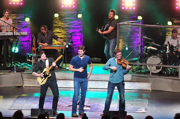 Josh Turner on stage with his band at the Valley Performing Arts Center on Oct. 24.