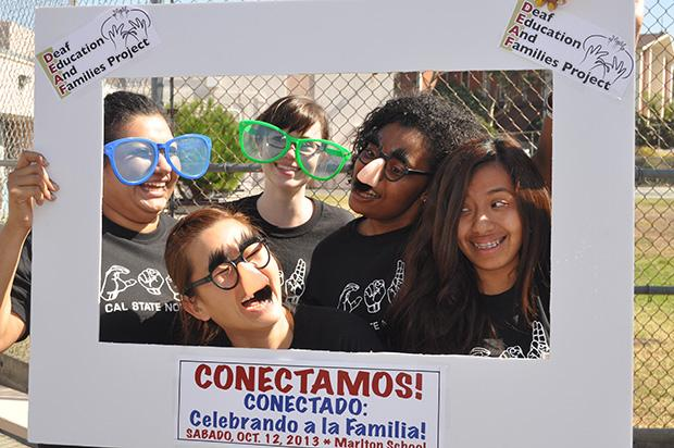 CSUN volunteers at the DEAF Project retreat on Saturday.  Photo credit: Mercedes Ortiz / Daily Sundial