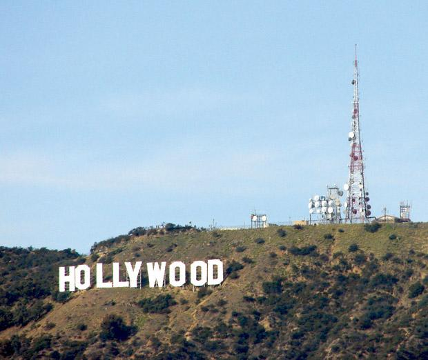 The famous Hollywood Sign, said to be one of the most haunted areas in Los Angeles.