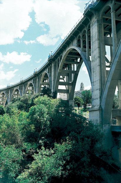 """The Colorado Street Bridge in Pasadena, a.k.a """"Suicide Bridge."""""""