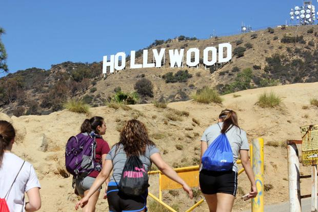 After seeing the Hollywood sign from behind, the guides led the students along another path in order to see the sign from the front. Ana Rodriguez / Daily Sundial