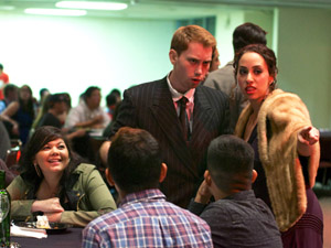 Nearly 170 students attend 1920s-themed Murder Mystery Dinner Show