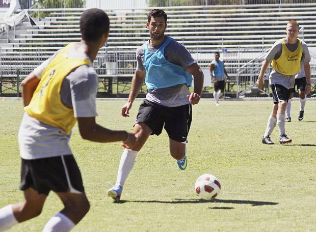"""Senior forward, Sagi-Lev Ari became a Matador last year when coach Yossi Raz recruited him to become a part of the CSUN's soccer team. """"He told me to come here because they were a good team. I trusted him and didn't regret it."""" Photo Credit: Lucas Esposito / Daily Sundial"""