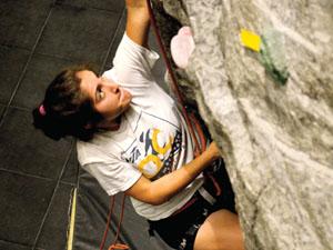 CSUN Rock Climbing Club on their way to the top