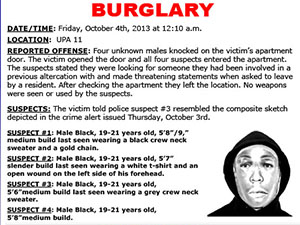 Four suspects commit burglary in UPA, CSUN PD investigates if two similar incidents are related