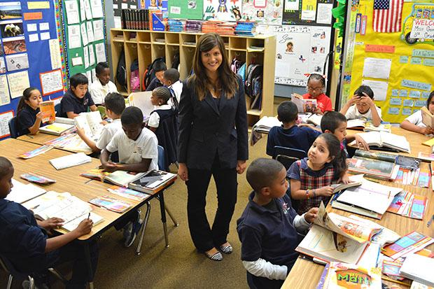 First year teacher Kaylie Gomez has been recognized nationally for her teaching efforts by People Magazine. Photo credit: John Saringo-Rodriguez / Photo Editor