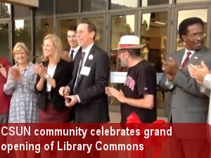 Campus community celebrates grand opening of Learning Commons
