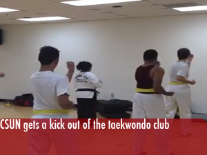 CSUN gets a kick out of the taekwondo club