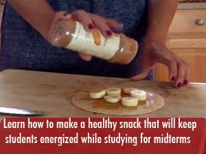 Learn how to make a quick and easy study snack to power through midterms