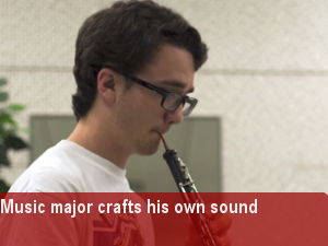 Oboist and music major develops his own unique sound