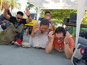 Nationwide Great Shakeout prepares CSUN students for a potential earthquake in California