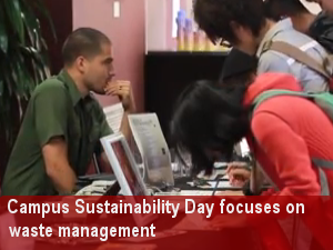 Campus Sustainability Day focuses on issues relating to waste