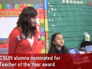 CSUN alumna nominated for Teacher of the Year award