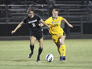 Women's Soccer: Matadors drop 49ers, secure first conference win