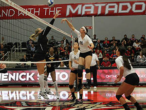 Women's Volleyball: Matadors bounce back with win over Cal Poly
