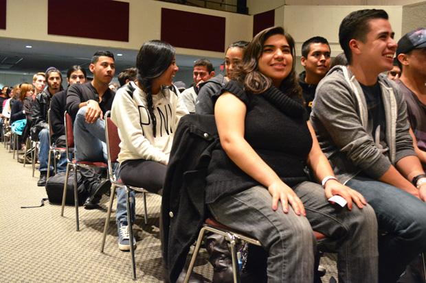 Associated Students hosted 'Big Comedy' a free event which catered to a full auditoriam of students. The show featured stand-up comedian, Jo Koy. Photo credit: John Saringo-Rodriguez / Photo Editor