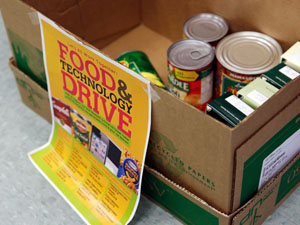 Annual drive provides food and used technology devices to students in need