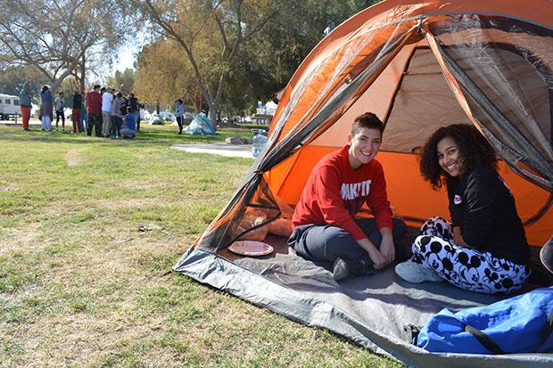 Some students took advantage of CSUN's Outdoor Adventures for camping supplies. According to their website one tent rental is seven dollars per day and a sleeping bag ranges from two to five dollars per day. Photo credit: John Saringo-Rodriguez / Photo Editor