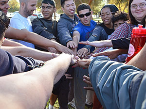 LGBTQA students learn teamwork skills at retreat