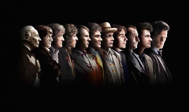 The eleven faces of the doctor over the past 50 years. Photo credit: © BBC 2013