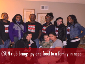 CSUN group gives a family the ingredients for a holiday meal
