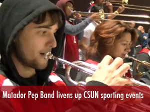 Matador Pep band livens up sports games