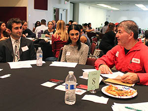 Business professionals prepare students for future jobs in similar fields at speed mentoring