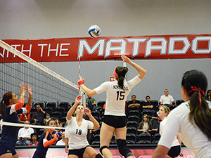 Women's Volleyball: No. 24 CSUN routs Cal State Fullerton in three sets