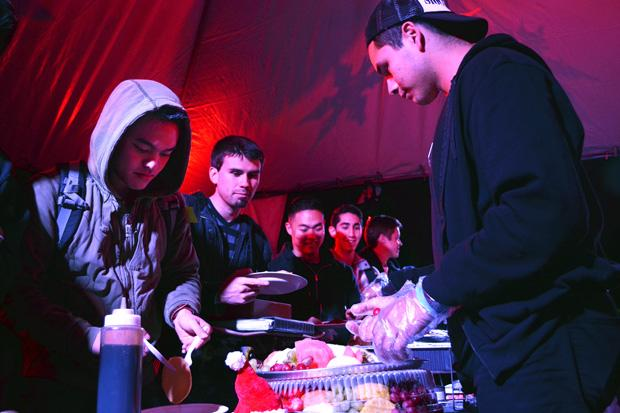 "Free food and music were offered at ""Final Flip,"" an event meant to bring CSUN students together before final exams. Photo credit: John Saringo-Rodriguez / Photo Editor"