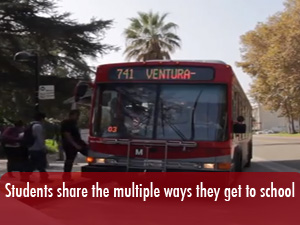Students share the multiple ways they commute to campus