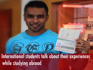 International students talk about their experiences studying abroad