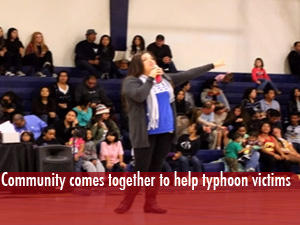 Community comes together to support victims of typhoon