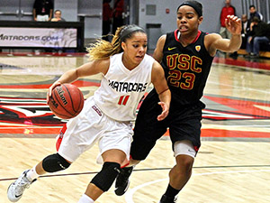 Women's Basketball: Matadors win nail-biter over USC, 65-64