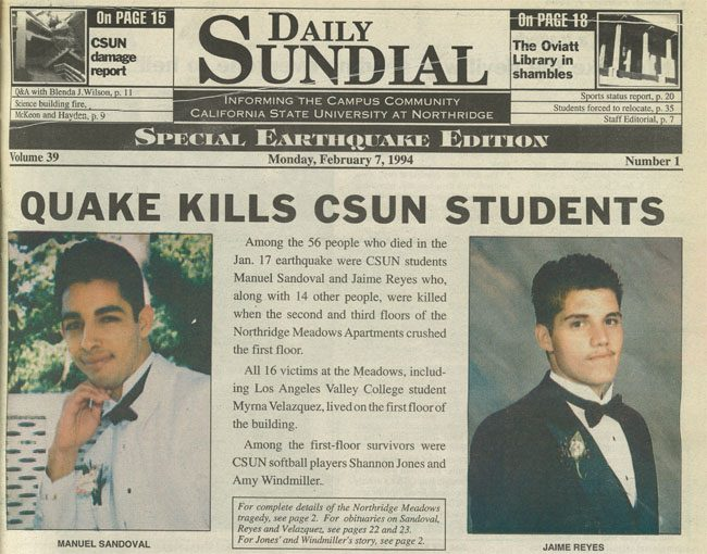 Podcast: Former Daily Sundial students reflect on Northridge Earthquake