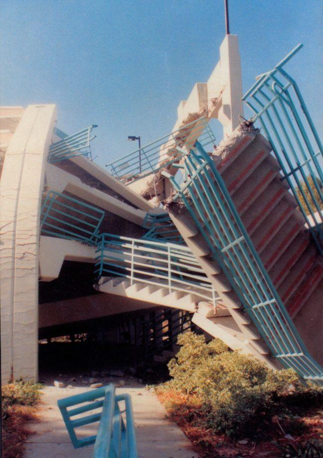 FILE PHOTO - The 1994 Earthquake has destroyed Parking Structure C on Jan. 17, 1994 in Northridge, Calif.