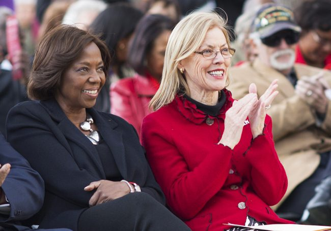 Earthquake courtyard rededicated to honor former CSUN president Blenda Wilson