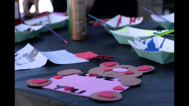 Valentine's Day crafts at USU Craft Corner