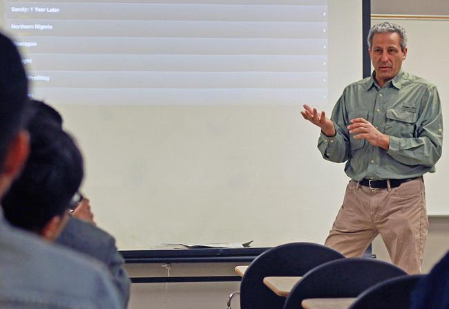 Ed Kashi in class