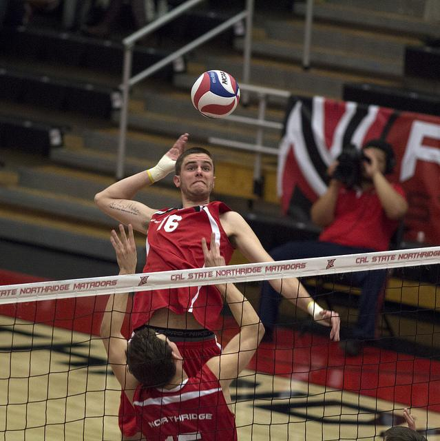 Men's Volleyball: No. 2 BYU quiets late CSUN rally to win in four sets