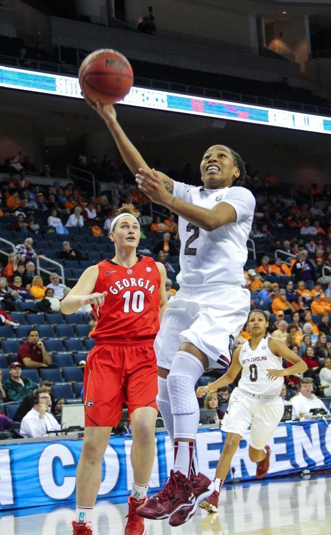 SEC Tournament USC women's basketball vs. Georgia