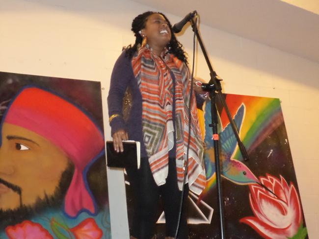 Keke+West+recites+a+spoken+word+poem+during+a+talent+show+held+in+memory+of+CSUN+student+Jusdeep+Singh+Sethi+Photo+Credit+Jonathan+R.+Diaz%2FNews+Editor
